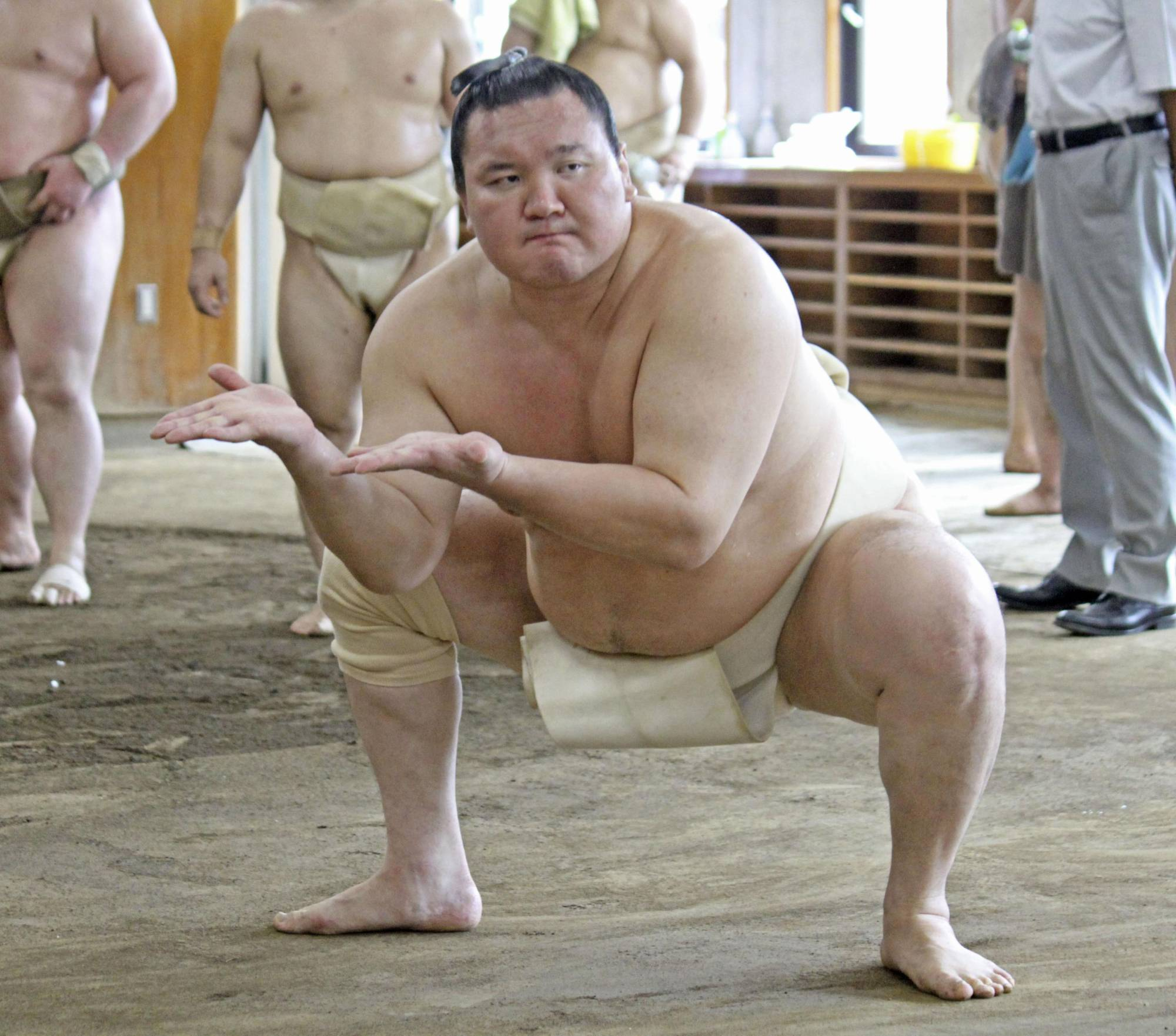 Yokozuna Hakuho will miss the September Basho because of COVID-19 infections among lower-ranked wrestlers in his stable.   KYODO