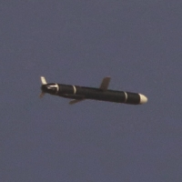 Long-range cruise missiles are tested in North Korea in these photos released Monday. | KCNA / VIA REUTERS
