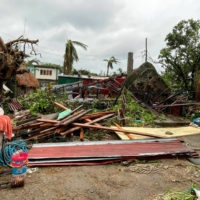 Damaged buildings and debris on Sunday after Typhoon Chanthu passed through Sabtang, Batanes, the Philippines   DENNIS BALLESTEROS VALDEZ / VIA REUTERS