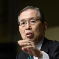 Shigenobu Nagamori, founder and former Chief Executive Officer of Nidec Corp., speaks during a news conference in Tokyo, Japan, on Wednesday, Jan. 23, 2019.   BLOOMBERG