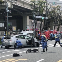 The scene of a high-profile fatal 2019 car accident in Tokyo's Ikebukuro district | KYODO