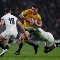 Sean McMahon, seen playing against England in 2017, is returning to Australia for The Rugby Championship. | REUTERS