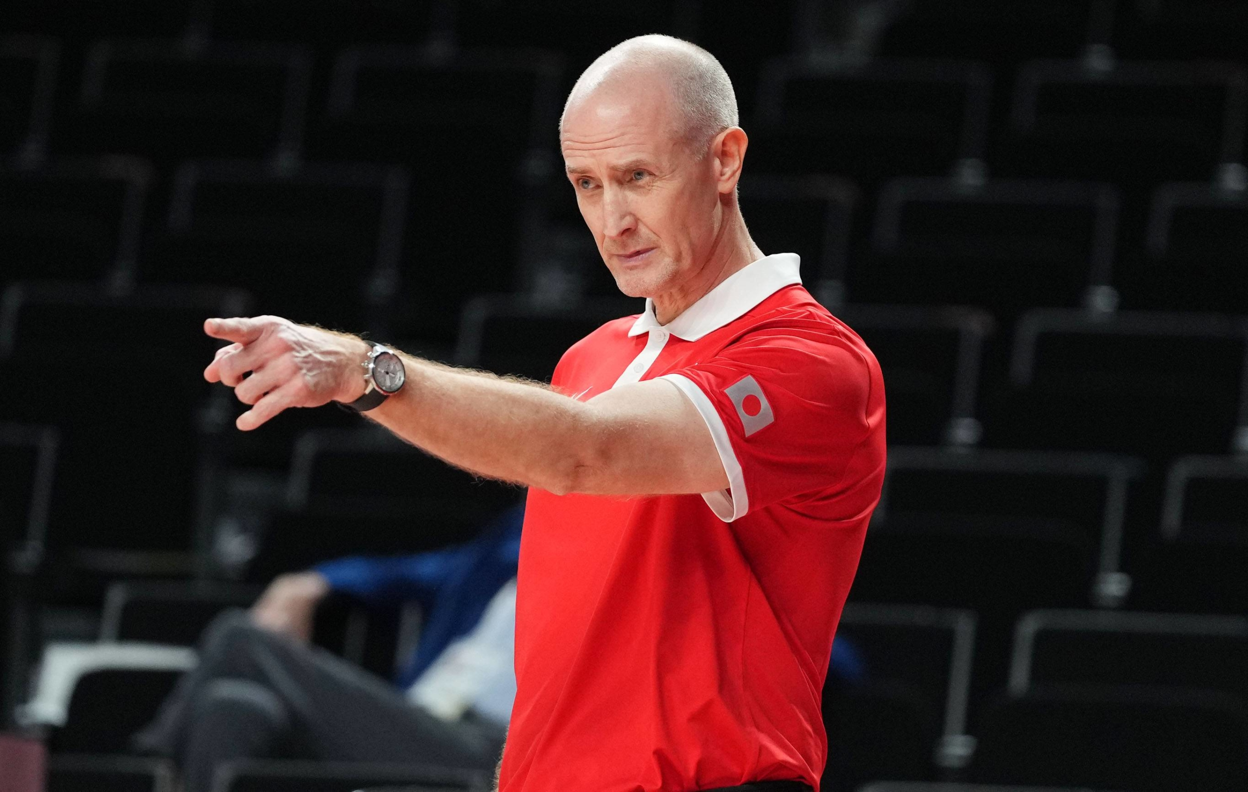 Tom Hovasse, who coached the Akatsuki Five women's team to silver at the Tokyo Games, has been announced as the new head coach of Japan's men's team. | USA TODAY / VIA REUTERS