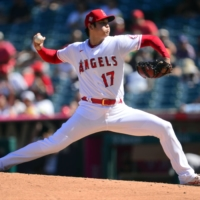 Ohtani's 10-strikeout performance over eight innings against the Oakland Athletics on Sunday bolstered his MVP credentials. | USA TODAY / VIA REUTERS