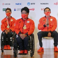While Japan's Paralympians may have enjoyed the spotlight, a recent survey shows Japanese people do not look so favorably on people with disabilities and the facilities they may need.   POOL / VIA KYODO