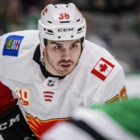 Zac Rinaldo, who has spent the last two seasons with the Calgary Flames, will begin this season with the Blue Jackets' farm team. | USA TODAY / VIA REUTERS
