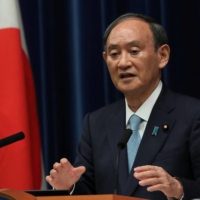 Prime Minister Yoshihide Suga speaks at a news conference on Sept. 9.  | REUTERS