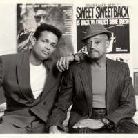 Melvin Van Peebles with his son Mario, with whom he sometimes collaborated, in 1994.  | JIM WILSON / THE NEW YORK TIMES