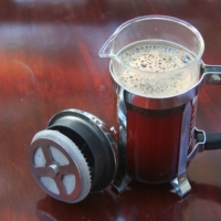 The French press is a classic piece of coffee equipment to invest in, particularly if you prefer dark-roast beans.   ANDY VAN HEUIT