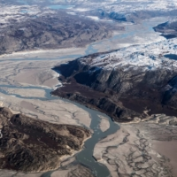 Melting ice and glacier mud near Kangerlussuaq, Greenland, on Sept. 17.  | REUTERS