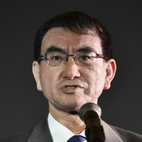 Taro Kono is one of four hopefuls vying to become the next leader of the Liberal Democratic Party and, by extension, prime minister. | KYODO