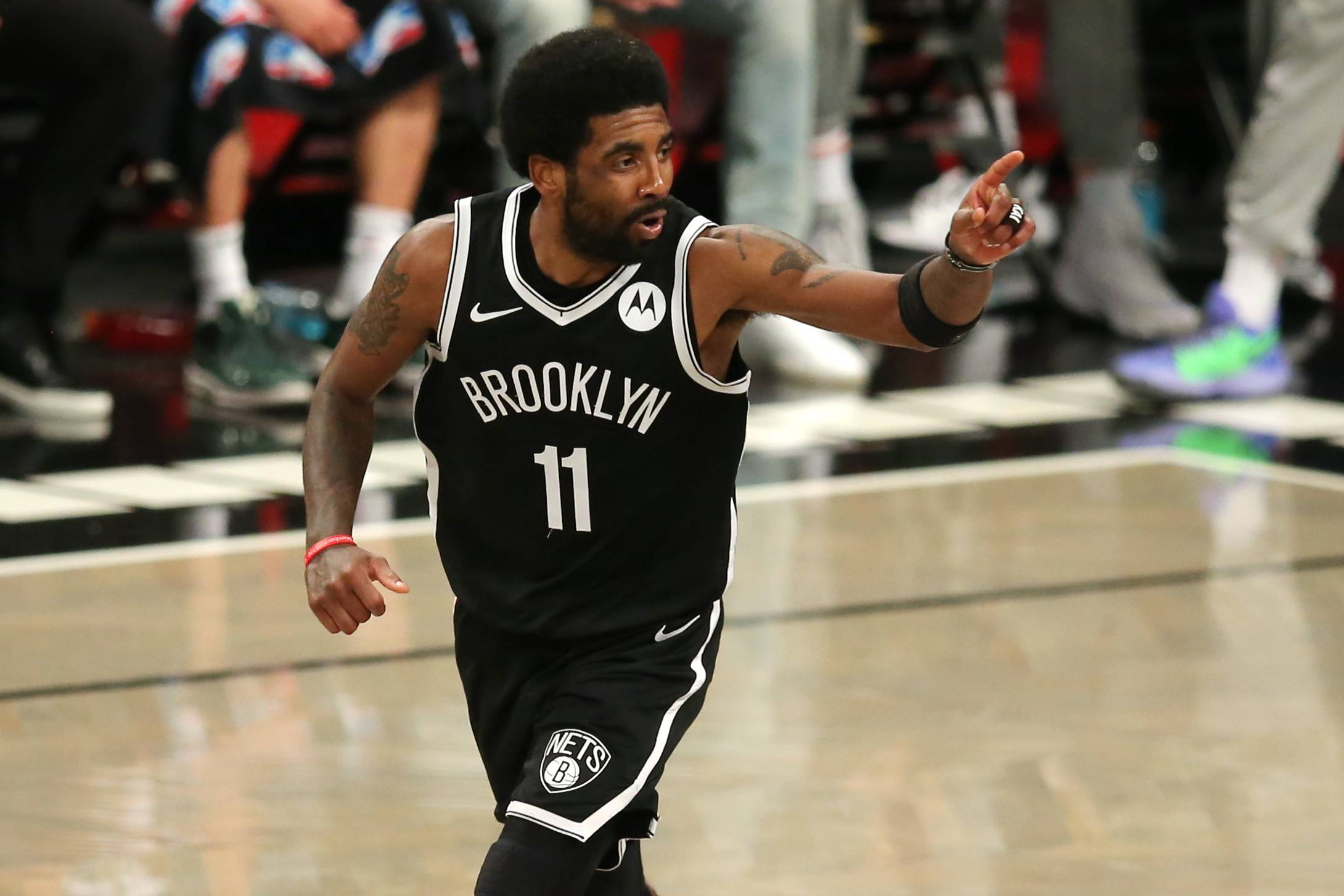 Nets guard Kyrie Irving could be prohibited from playing in home games until he receives the COVID-19 vaccine.  | USA TODAY / VIA REUTERS