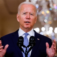 U.S. President Joe Biden delivers remarks on Afghanistan during a speech at the White House in Washington on Aug. 31.   REUTERS