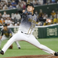 The return of Haruto Takahashi may give the Tigers' pitching staff a big boost.   KYODO