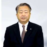 NTT Corp. President Jun Sawada announces a shake-up of the firm's management and working styles at an online news conference Tuesday. | KYODO