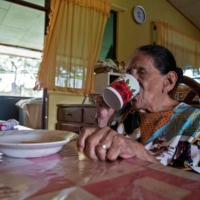 Natividad 'Talia' Matarrita Fonseca, 93, lives in one of the five so-called Blue Zones of the world, where longevity is a characteristic in a higher than usual number of people. | AFP-JIJI