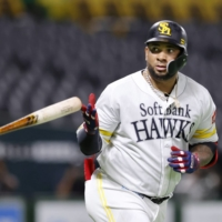Wladimir Balentien, who holds NPB's single-season home run record, is expected to leave the Hawks at the end of this season. | KYODO