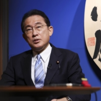 Former Foreign Minister Fumio Kishida, who was elected Liberal Democratic president Wednesday, speaks during an interview at his office in Tokyo on Sept. 3. | BLOOMBERG