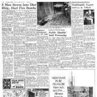 Japan Times 1971: Five men storm the Diet and hurl fire bombs