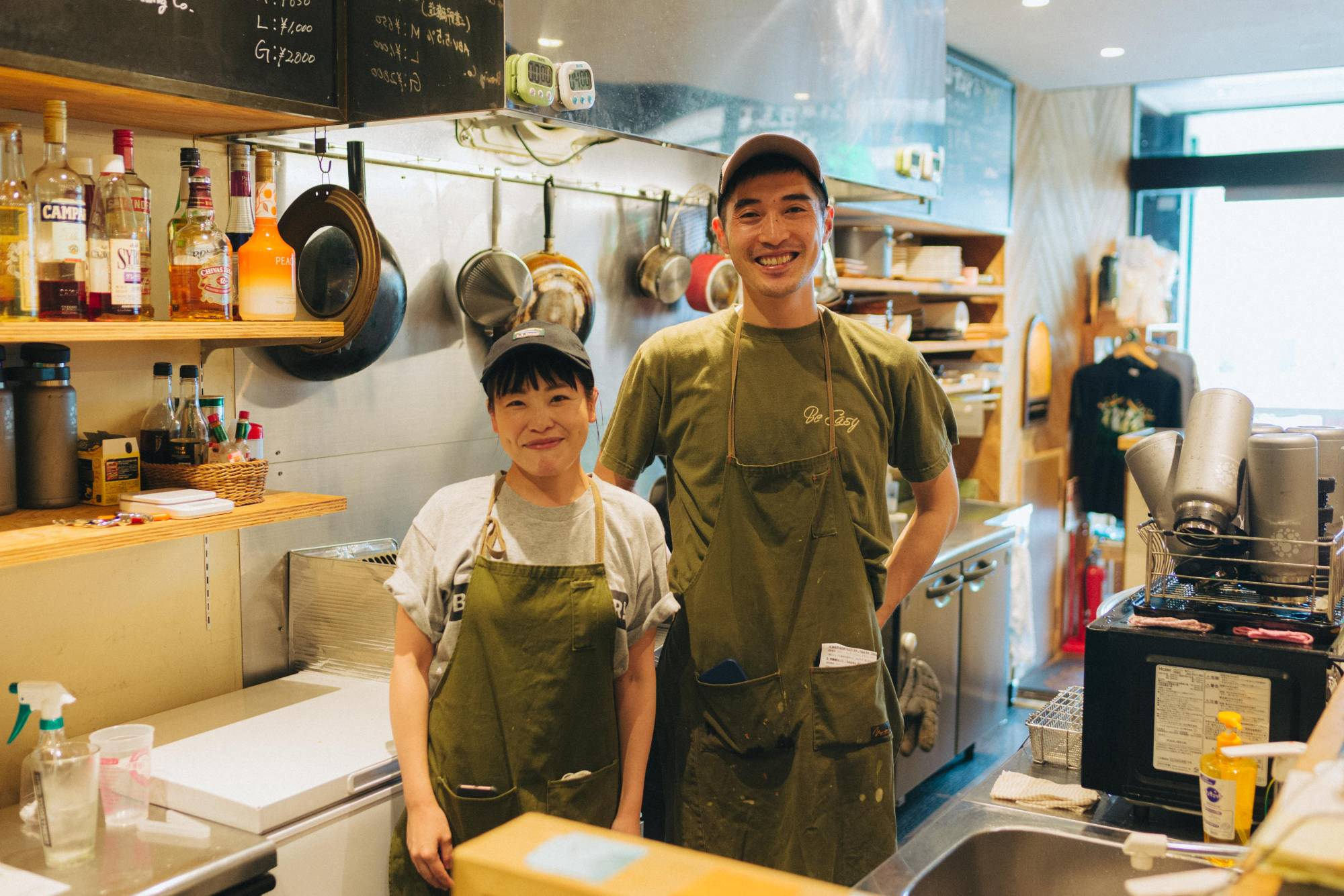 Daisuke Hakamada (right) co-founded brewpub Tono Brewing, which produces around 25 beers a year made with locally grown hops. | KATSUSUKE NISHINA