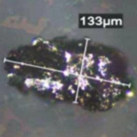 A particle of stainless steel found in Moderna Inc.'s COVID-19 vaccine | TAKEDA PHARMACEUTICAL CO. / VIA HEALTH MINISTRY / VIA KYODO