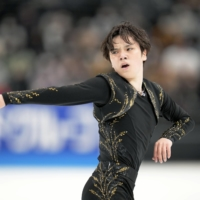 Shoma Uno performs during the Japan Open on Saturday in Saitama. | KYODO