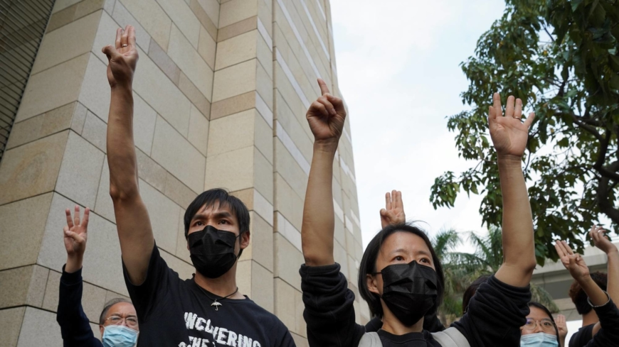 Hong Kong's largest pro-democracy labor union votes to disband