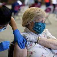 A Pfizer-BioNTech vaccination clinic in Southfield, Michigan, on Friday    REUTERS