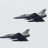 Taiwan Air Force Mirage-2000 fighter jets. Repeatedly needing to intercept Chinese planes places great pressure on the island's military and cost it at least $886 million in 2020 alone after scrambling interceptors nearly 3,000 times.   REUTERS