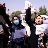 Securing the rights of Afghan women has been seen as a bargaining chip for building positive relations with the Taliban following the U.S. withdrawal from Afghanistan. | REUTERS