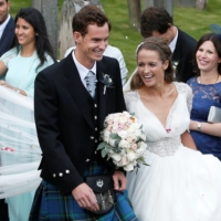 Andy Murray and Kim Sears were married in Dunblane, Scotland, on April 11, 2015.   REUTERS