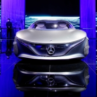 A Mercedes-Benz Vision AVTR concept vehicle at the Auto Shanghai show in April     REUTERS