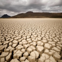 The dried-up municipal dam in drought-stricken Graaff-Reinet, South Africa, in 2019   REUTERS