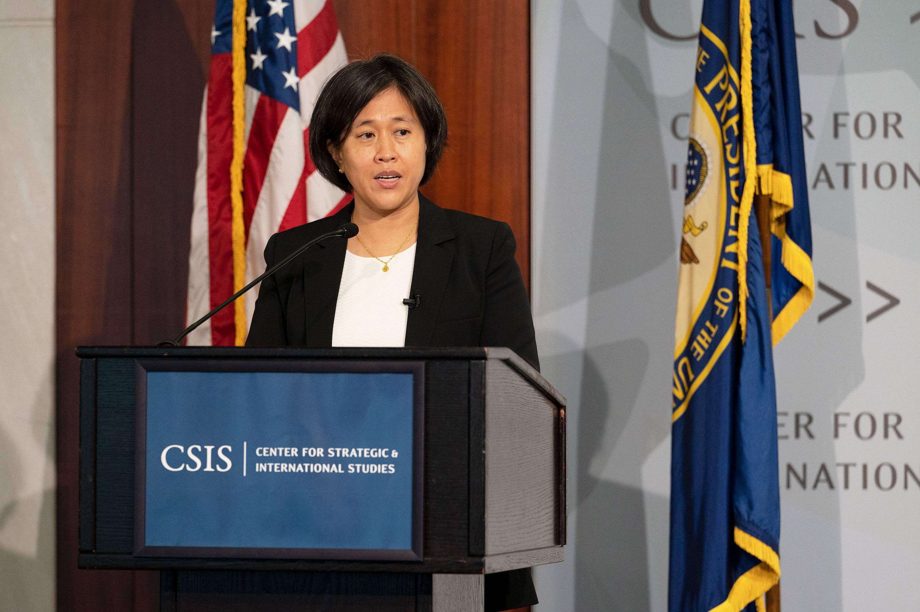 U.S. trade representative Katherine Tai has said the Biden administration will work to enforce China's commitments under the trade deal. | BLOOMBERG