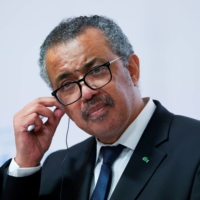 WHO Director-General Tedros Adhanom Ghebreyesus gives a news conference in September. | REUTERS