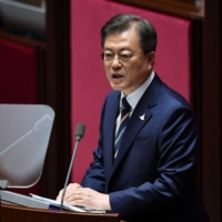 Despite having already talked to other world leaders during his first week in office, newly elected Prime Minister Fumio Kishida has yet to call his South Korean counterpart, President Moon Jae-in. | POOL / VIA REUTERS